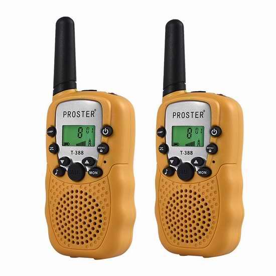 Proster Walkie Talkies 儿童远距离无线手台对讲机2件套 25.49加元限量特卖并包邮!