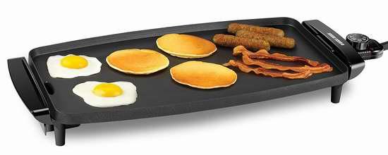 BLACK+DECKER GD1810BC 家用不粘底电烤盘/铁板烧6.1折 29.99加元!