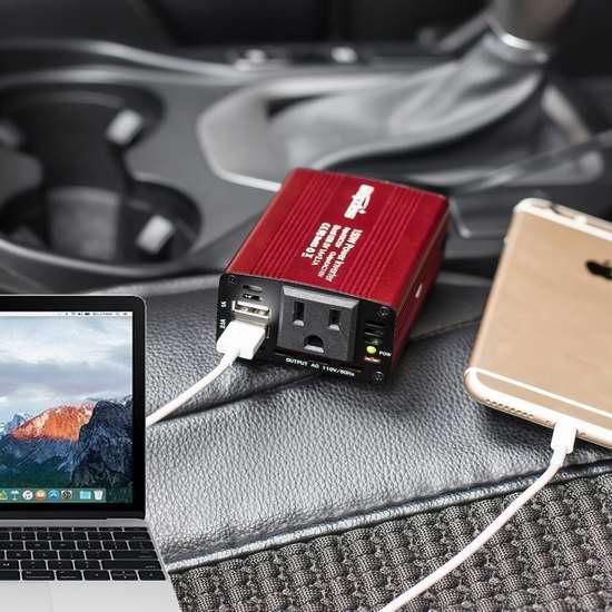 Bapdas 150W 双口USB充电 车载变压器 18.35加元限量特卖!带2个USB充电口!