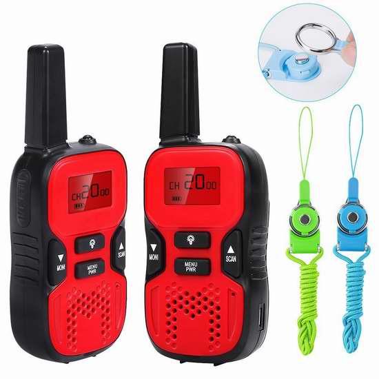 Waitiee 儿童便携式无线手台/对讲机2件套 30.59加元限量特卖并包邮!