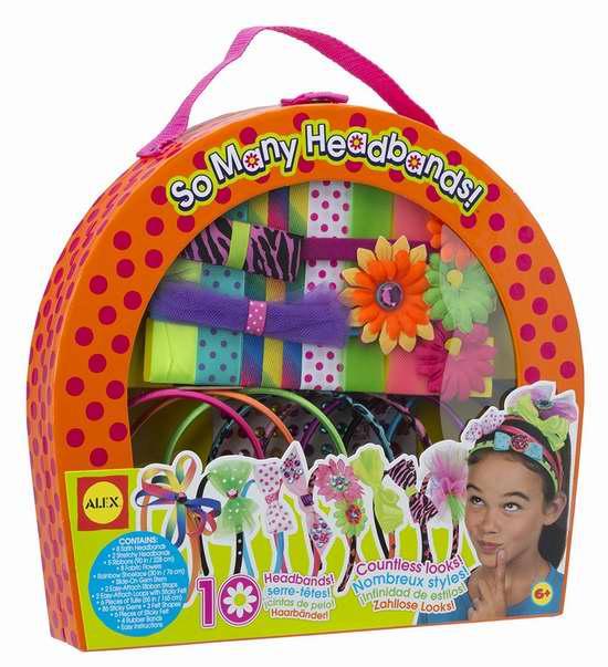 历史新低!ALEX Toys 724 儿童彩色发夹DIY套装3.9折 15加元限时特卖!