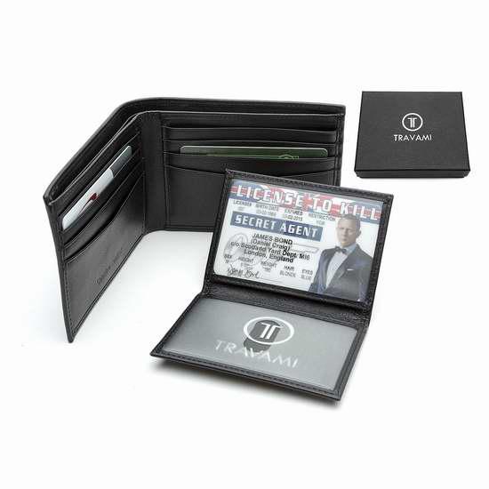 TRAVAMI RFID 防盗男士真皮钱包 19.97加元限量特卖!