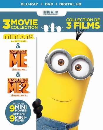 金盒头条:《Despicable Me 3-Movie 神偷奶爸1+神偷奶爸2+9部迷你电影》DVD+蓝光+UV套装 19.99-22.99加元!