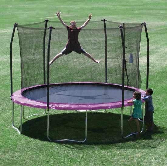 销量冠军!Skywalker Trampolines 12英尺 带保护罩 紫色封闭蹦床4.5折 297.49加元包邮!