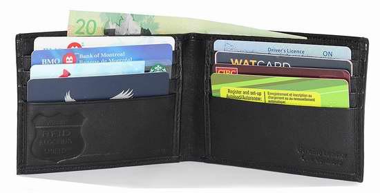 Ashlin RFID 防盗男士真皮钱包 14.95加元限量特卖!