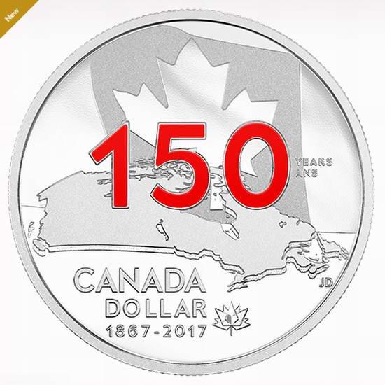 2017搪瓷特别版 加拿大国庆150周年《Our Home and Native Land》纯银纪念币 69.95加元销售!