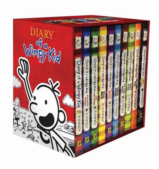 历史新低!《Diary of a Wimpy Kid 小屁孩日记》(1-10)全集 硬壳精装版5.7折 95.4加元限时特卖并包邮!