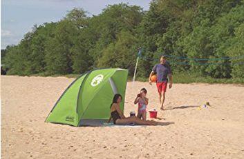 近史低价!Coleman 多用途 沙滩遮阳帐篷/可封闭更衣室5.4折 40.24加元包邮!