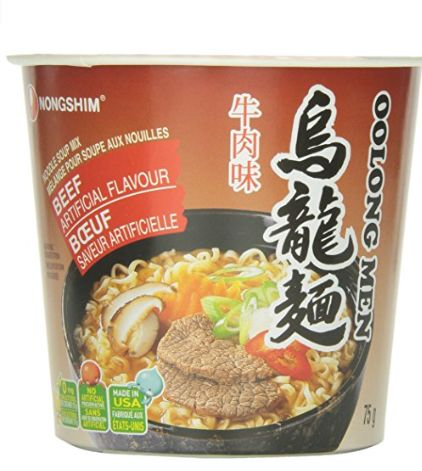 Nongshim 美味农心牛肉碗装方便面 1.28加元,原价 2.99加元