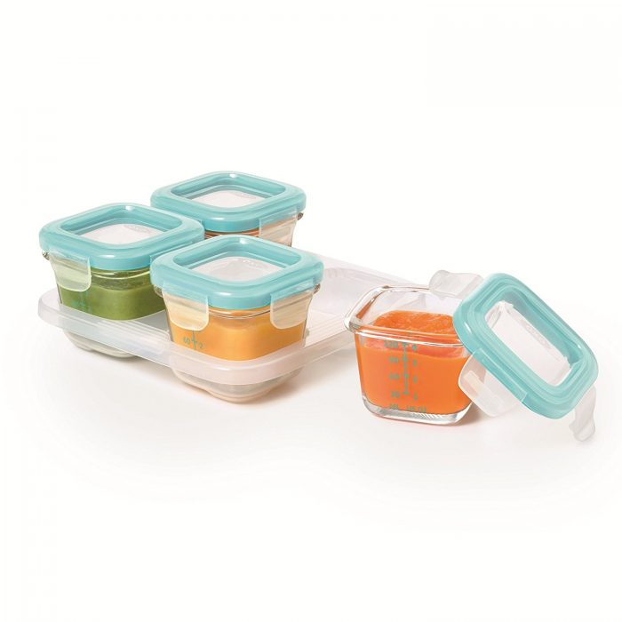 Oxo Tot 宝宝食品 玻璃保鲜盒 4件套 16.99加元,原价 24.99加元
