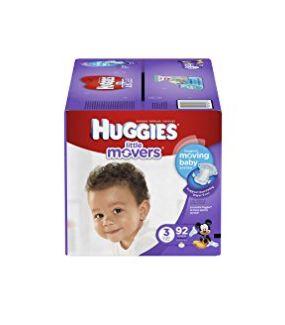 Huggies 好奇 Little Movers 纸尿裤 19.97加元(3,6号),原价 29.99加元