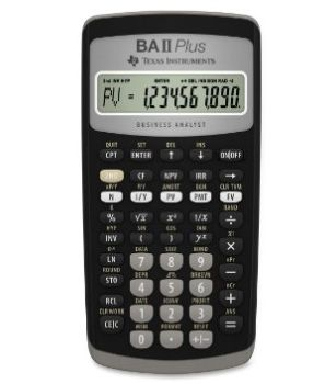 TI Texas Instruments BA II Plus 财会考试专用 金融计算器 41.42加元,原价 49.99加元,包邮
