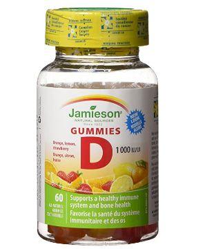 Jamieson Vitamin D 混合味软糖 5.21加元(60粒),原价 12.79加元