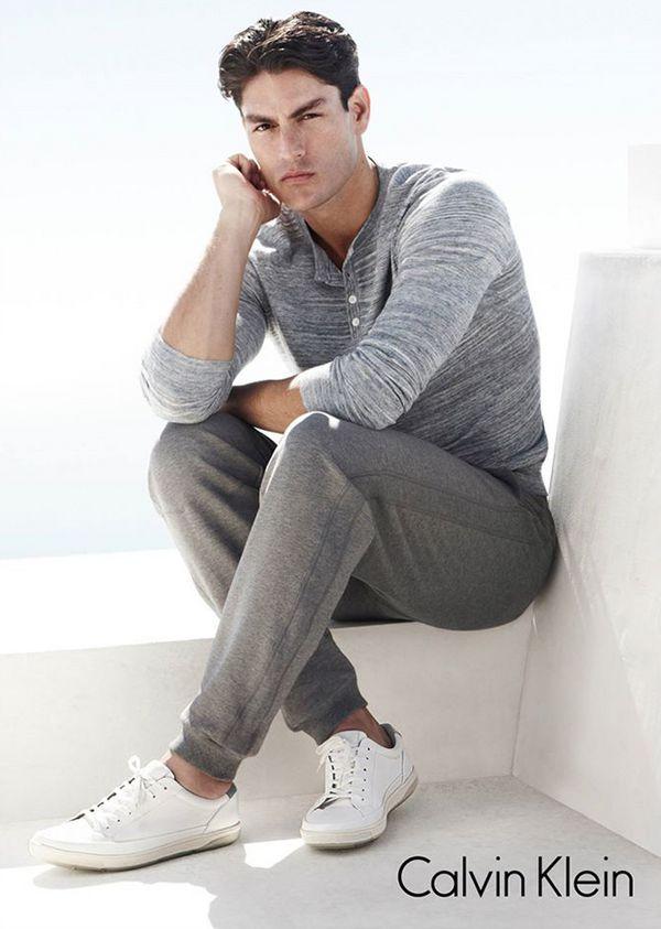 必备款!CALVIN KLEIN 男款小白鞋 52.5-59.5加元(2色),原价 175加元
