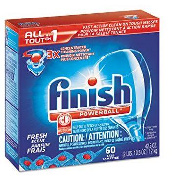Finish 60枚洗碗清洁剂 13.29加元,原价 20.86加元