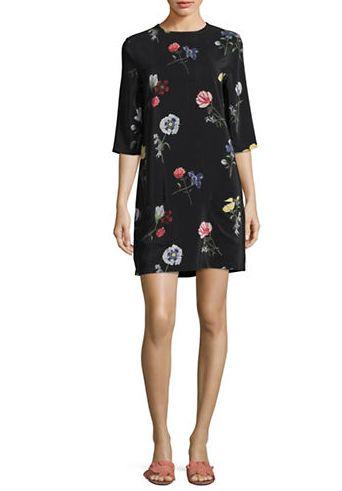 EQUIPMENT Aubrey中袖印花连衣裙 110.4加元(中码),原价 368加元,包邮
