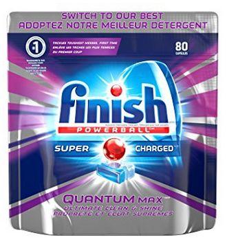 Finish Quantum 洗碗清洁剂(80粒)5.7折 13.04加元!