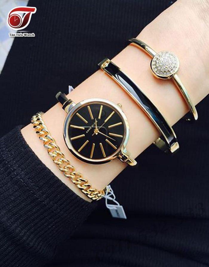 金盒头条:ANNE KLEIN AK/1470GBST 女士施华洛世奇水晶腕表套装 63.99加元,原价 225加元,包邮