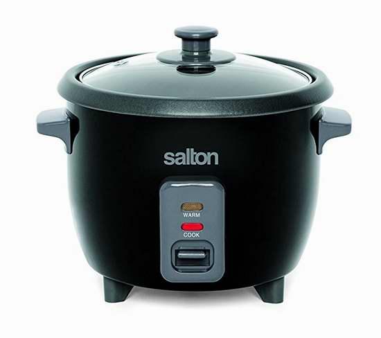历史新低!Salton RC1653 6杯量 不锈钢自动电饭煲4.2折 13.98加元!