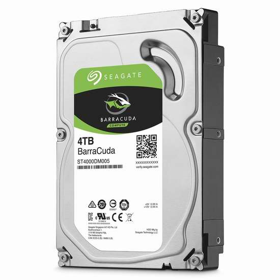 历史最低价!Seagate 希捷 BarraCuda 酷鱼 ST4000DM005) 4TB 3.5英寸SATA III 台式机硬盘 129.99加元包邮!