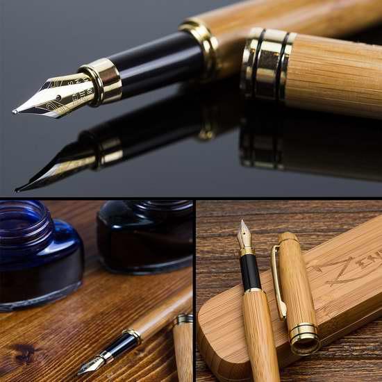 手慢无!ZenZoi 手工竹制钢笔礼盒装4.7折 18.97加元限量特卖并包邮!另有配套墨水24件套 13.97加元!