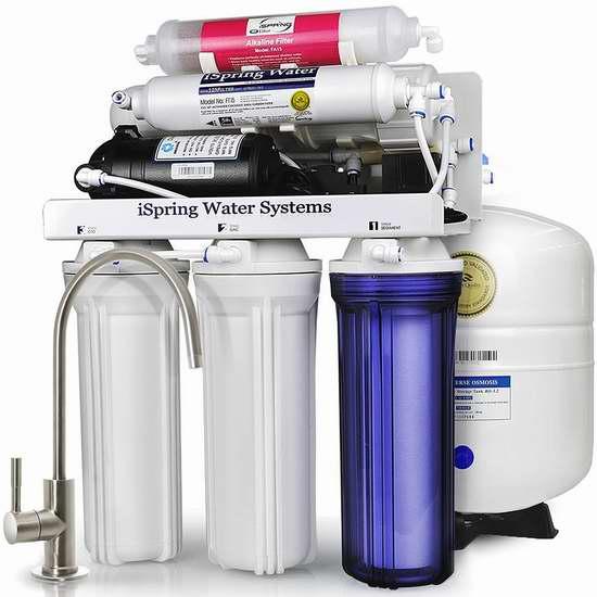 历史新低!iSpring RCC7P-AK 6级反渗透 家用水过滤/矿泉水系统 376.99加元包邮!