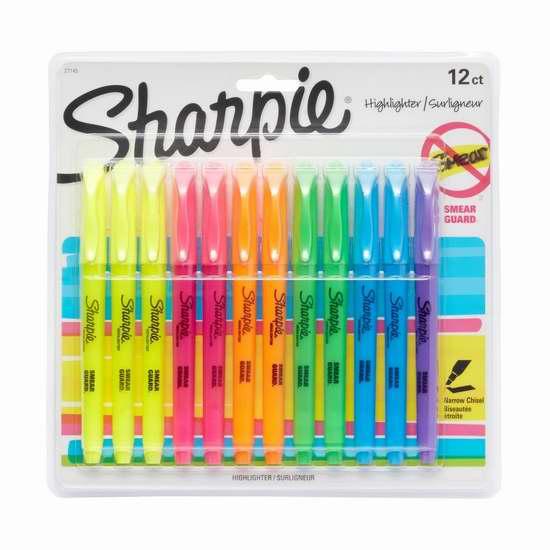 历史新低!Sharpie 27145 荧光笔12支装5.1折 9.99加元!