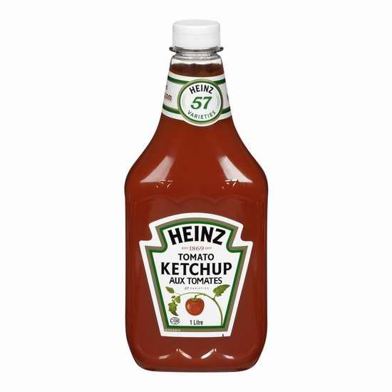 历史最低价!HEINZ 亨氏 Ketchup 番茄酱(1升)5.1折 2.47加元!