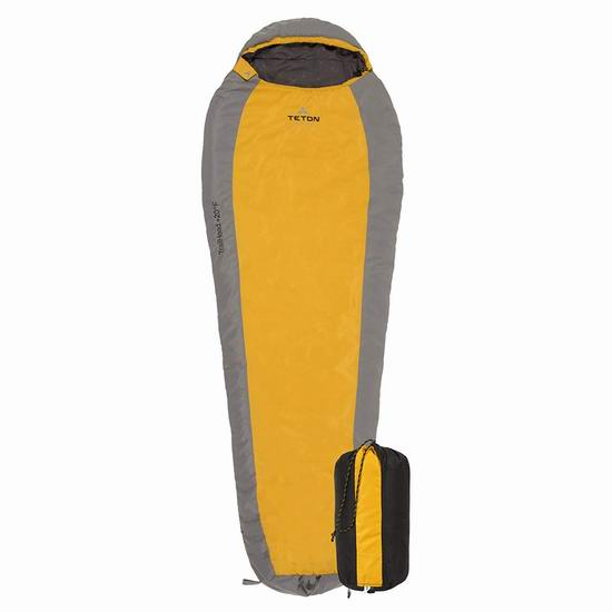 TETON Sports TrailHead 零下7度超轻全拉链睡袋4.9折 61.15加元包邮!