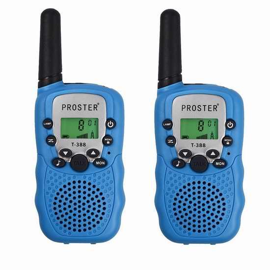 新版 Proster Walkie Talkies 远距离无线对讲机2件套 24.64加元限量特卖!