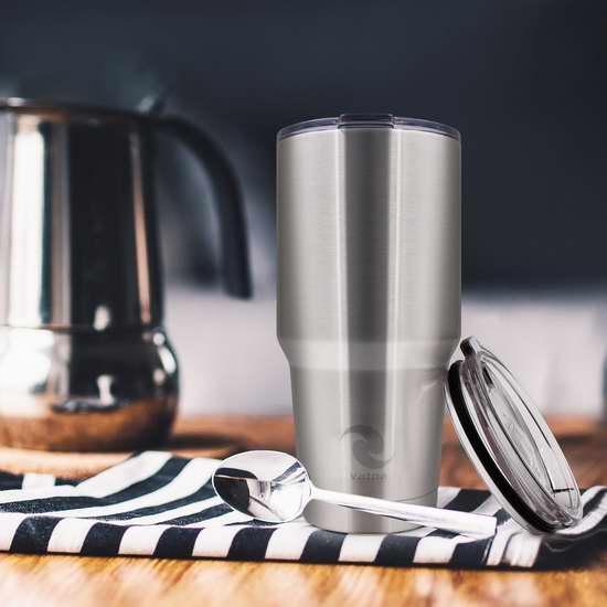 Vatna 30盎司 双壁真空 高级不锈钢保温杯 22.93加元限量特卖!