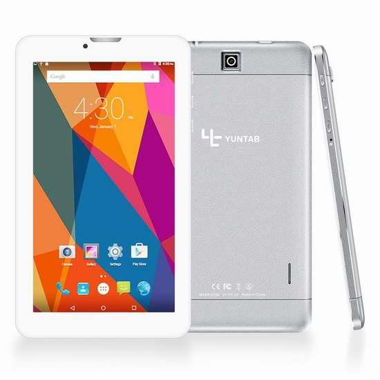 Yuntab E706 7英寸3G双卡双待平板手机 73.09加元限量特卖并包邮!