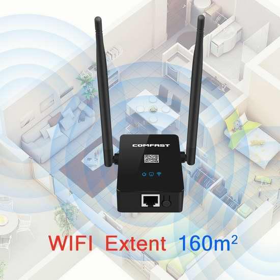 ARCHEER 750M 双频无线Wi-Fi信号延伸/中继器 19.99加元包邮!