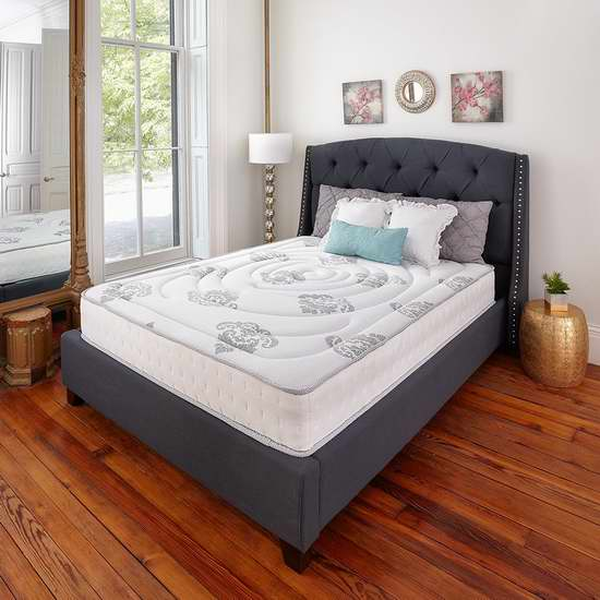 手慢无!历史新低!Classic Brands Decker 10.5英寸 Cal King 记忆海绵+弹簧床垫3.6折 245.19加元包邮!