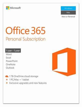 历史最低价!Microsoft Office 365 Personal 个人版1年订阅 49.99加元包邮!
