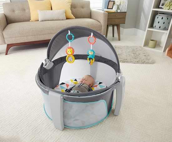Fisher-Price 费雪 On-The-Go 便携式二合一 婴儿睡眠/玩乐围栏6折 59.97加元包邮!两色可选!