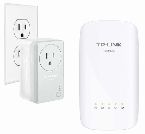 历史最低价!TP-Link AV500 AC750 TL-WPA4530 双功能 无线扩展+电力线网络适配器/电力猫2件套 69.99加元包邮!