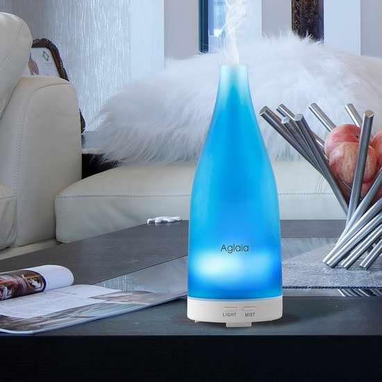 Aiho 100ml 蓝色玻璃 精油香薰/加湿器 22.94加元限量特卖!