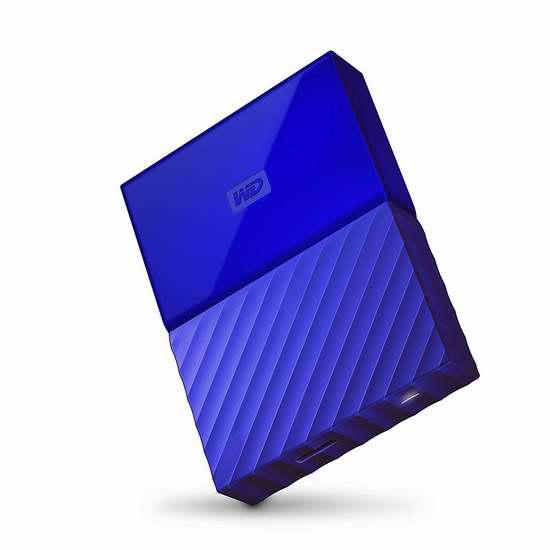历史最低价!Western Digital 西数 My Passport 3TB 蓝色便携式移动硬盘 129.99加元包邮!