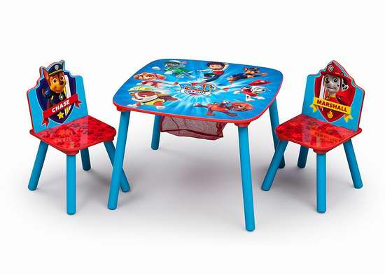历史新低!Disney Pixar Delta Children 狗狗巡逻队 木质儿童桌椅3件套 60.52加元包邮!