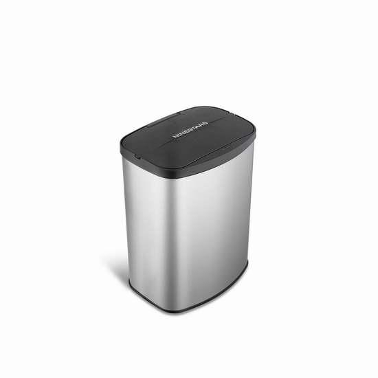 历史新低!NINESTARS DZT-8-1c 2.1加仑红外感应式不锈钢垃圾桶5.6折 40.92加元限量特卖并包邮!会员专享!