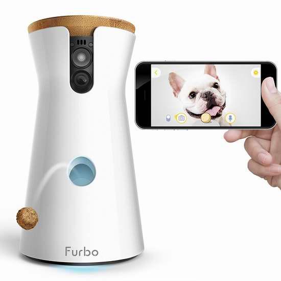 历史最低价!Furbo 宠物狗 WiFi智能喂食器/远程互动监视器 199加元包邮!再送一包狗狗零食!