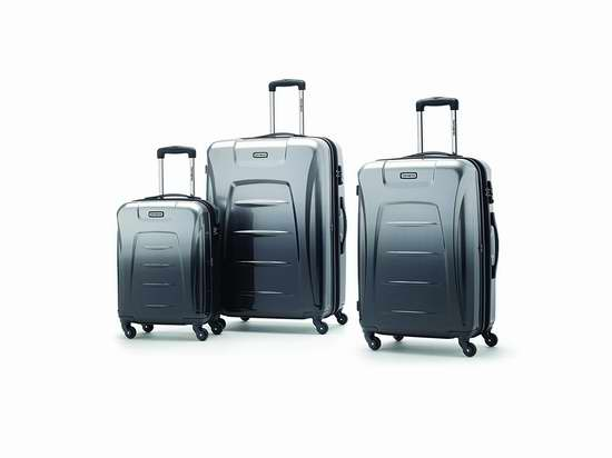 历史新低!Samsonite 新秀丽 Winfield 3 轻质时尚硬壳拉杆行李箱3件套 281.77加元包邮!