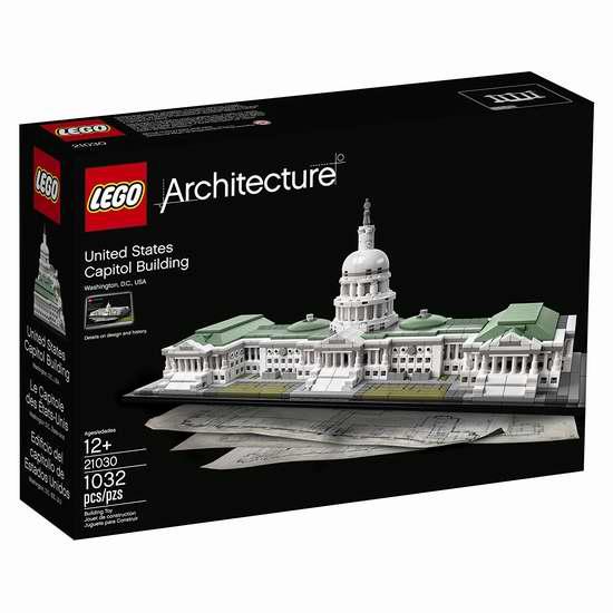 LEGO 乐高 Architecture 21030 美国国会大厦(1032pcs)7.4折 98.99加元包邮!
