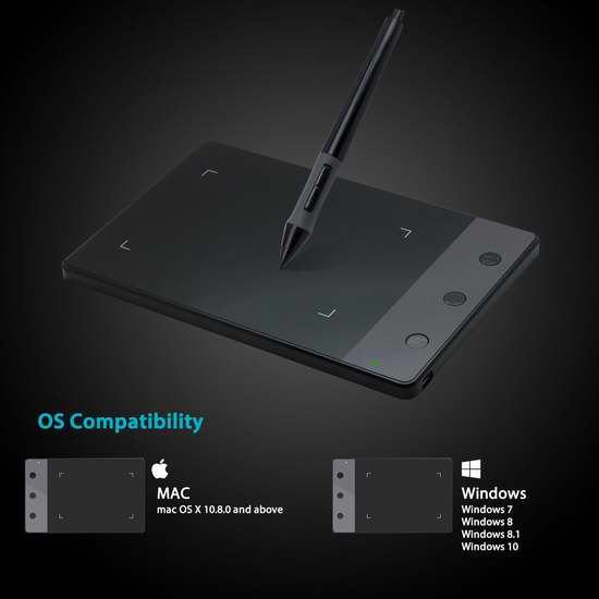 Huion 绘王 H420 数位板/电脑绘画板/手写板 29.74加元限量特卖!