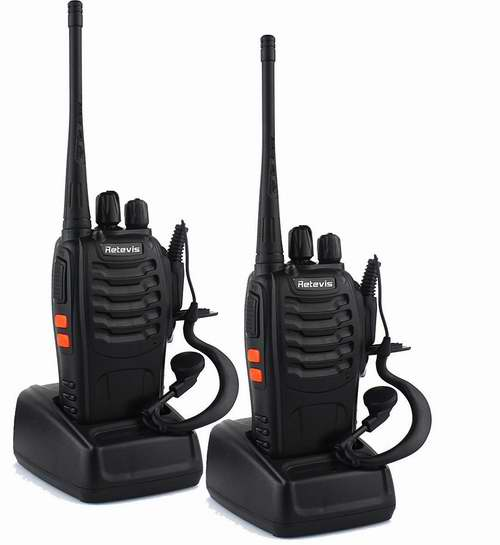 Retevis H-777 UHF 400-470MHz 16信道无线专业双向对讲机/手台2只装 56.09加元限量特卖并包邮!