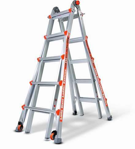 Little Giant Ladder 小巨人 14016-001 Alta One 22英尺 超轻航空铝合金 33合1多功能人字万用梯4.8折 220.73加元包邮!