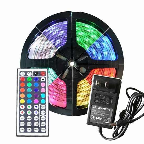 Kyodoled 150 LEDs 5米彩色防水柔性线灯3.8折 18.15加元限量特卖并包邮!