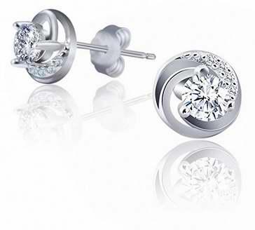 J.Rosée 纯银锆石水晶耳钉1.6折 16.01加元限量特卖并包邮!