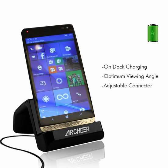 ARCHEER USB C接口 手机充电座 8加元!